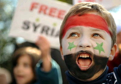 Syria protests rally