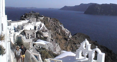 Santorini - Greek island lovers vacation